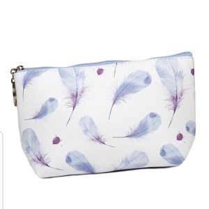 Handbags - Faux Leather Small Zippered Pouch